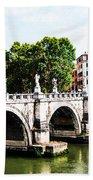 Ponte Saint' Angelo, Rome Bath Towel
