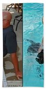 Poolside - Gently Cross Your Eyes And Focus On The Middle Image Bath Towel