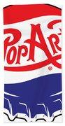 Pop Art Bottle Cap Bath Towel