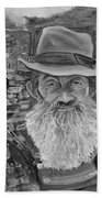 Popcorn Sutton - Black And White - Rocket Fuel Bath Towel