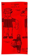 Popeye Doll Patent 1932 In Red Bath Towel