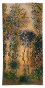 Poplars At Giverny - Sunrise Bath Towel