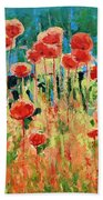 Poppies And Traverses 2 Bath Towel