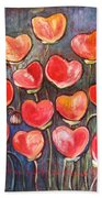 Poppies Are Hearts Of Love We Can Give Away Bath Towel