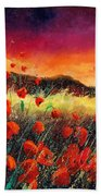 Poppies At Sunset 67 Bath Towel