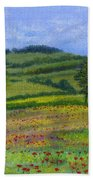 Red Poppies In Cribyn Fields Hand Towel
