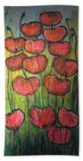 Poppies In Oil Bath Towel