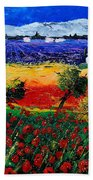 Poppies In Provence Bath Towel