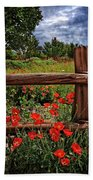Poppies In The Texas Hill Country Bath Towel
