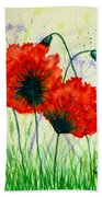 Poppies In The Wild Bath Towel