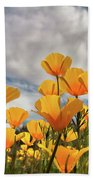 Poppies In The Wind Part Two  Bath Towel