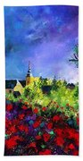 Poppies In Villers Bath Towel