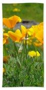 Poppies Meadow Summer Poppy Flowers 18 Wildflowers Poppies Baslee Troutman Bath Towel