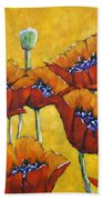 Poppy Craze By Prankearts Hand Towel