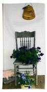 Porch Flowers Bath Towel