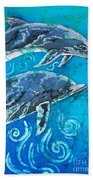 Porpoise Pair - Close Up Bath Towel