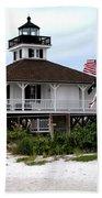 Port Charlotte Harbor Lighthouse Bath Towel