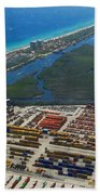 Port Everglades Florida Bath Towel