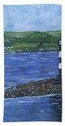 Port Glasgow, Perch Lighthouse Bath Towel