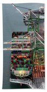 Port Of Oakland Aerial Photo Bath Towel