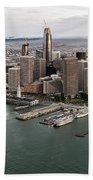 Port Of San Francisco And Downtown Financial Districtport Of San Francisco And Downtown Financial Di Bath Towel