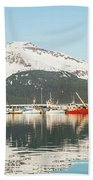 Port Of Seward Alaska  Bath Towel