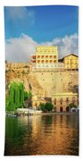 Port Of Sorrento, Southern Italy Bath Towel