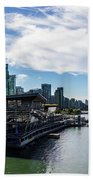 Port Of Vancouver Bath Towel by Ed Clark