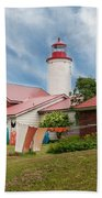 Portage River - Jacobsville - Lighthouse Bath Towel