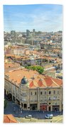 Porto Historic Center Aerial Bath Towel