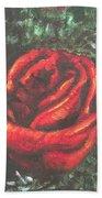 Portrait Of A Rose Bath Towel