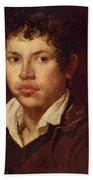 Portrait Of A Young Man Bath Towel
