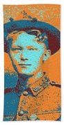 Portrait Of A Young  Wwi Soldier 4 Hand Towel