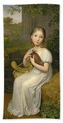 Portrait Of Countess Louise Bose As A Child Bath Towel