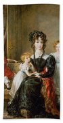 Portrait Of Elizabeth Lea And Her Children Bath Towel
