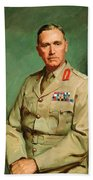 Portrait Of Lieutenant - General The Honorable Sir Edmund Herring Bath Towel