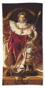 Portrait Of Napolan On The Imperial Throne 1806 Bath Towel