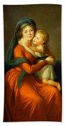 Portrait Of Princess Alexandra Golitsyna And Her Son Piotr Bath Towel