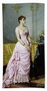 Portrait Of Rose Caron Bath Towel