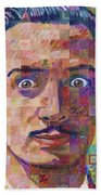 Portrait Of Salvador Dali Bath Towel