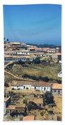 Portugese Hillside Village Bath Towel