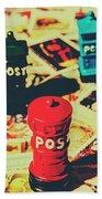 Postage Pop Art Bath Towel