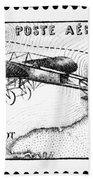 Postage Stamp: Bleriot Bath Towel