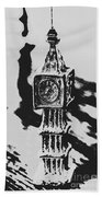 Postcards From Big Ben  Bath Towel