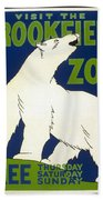 Poster For The Brookfield Zoo Hand Towel