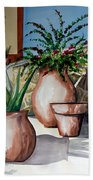 Pots And Bougainvillea Bath Towel