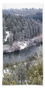 Powdered Spokane River Bath Towel