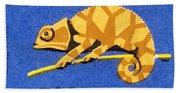 Prague Zoo Chameleon Matchbox Label Hand Towel