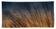 Prairie Grass Sunset Patterns Hand Towel
