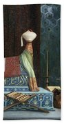 Prayer At The Sultan's Room  The Grief Of Akubar  Hand Towel